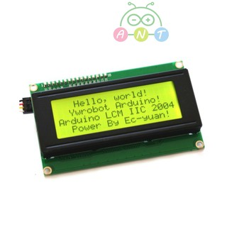 พร้อมส่ง-2004 I2C LCD module Yellow-Green/Blue screen IIC / I2C 20x4 charaters for Arduino