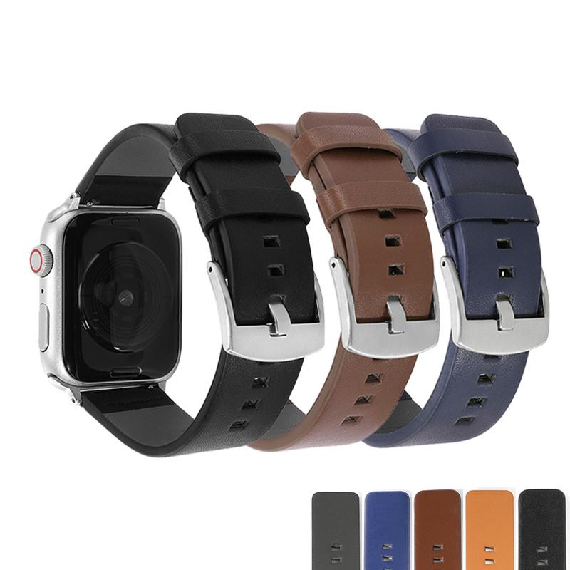 Leather watch strap for apple watch 6 5 se band 42mm 38mm for iWatch series 4/3/2/1 apple watch band 40mm 44mm