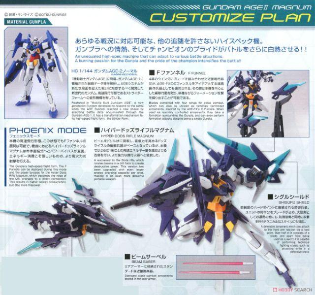 ⭐TGS⭐HG Gundam Age II Magnum (HGBD) (Gundam Model Kits) tj8u