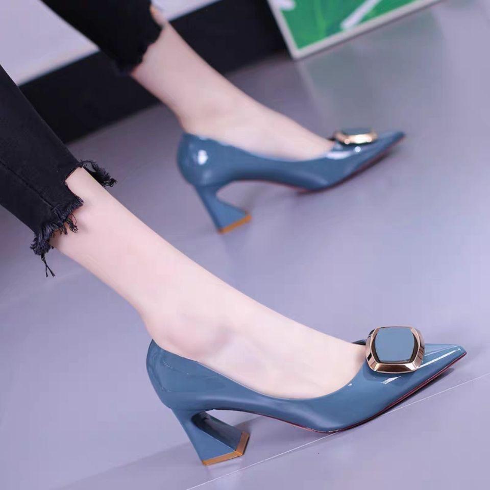 ✨✨รองเท้าคัชชูผู้หญิง ส้นสูง ทรงทางการ ✨รองเท้าส้นสูงแฟชั่น รองเท้าคัชชูผู้หญิง  ทรงทางการ