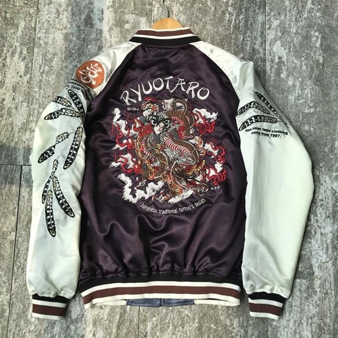 SUKAJAN พรีเมียมเกรด Japanese Souvenir Jacket  แจ็คเกตซูกาจันลาย   TRDMAN RYUOTARO