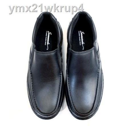 พร้อมส่ง ♛❍☾Saramanda รุ่น 157034 รองเท้าคัชชูผู้ชายหนังลูกกวาดพรีเรียบมือแท้ทั้งคู่แบบสวมมี 2 สี