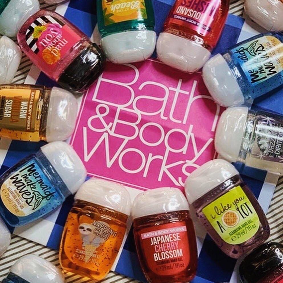 Bath&BodyWorks เจลล้างมือ ที่มีกลิ่นหอมติดทนนาน และให้ความชุ่มชื้นกับมือ