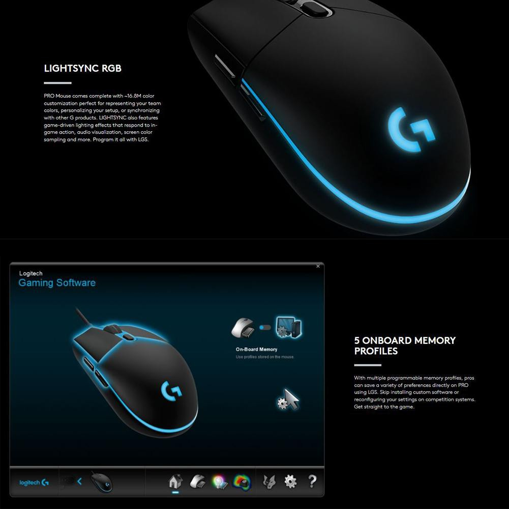 ◎】Logitech G Pro Gaming FPS Mouse 12000DPI Wired Mouse for