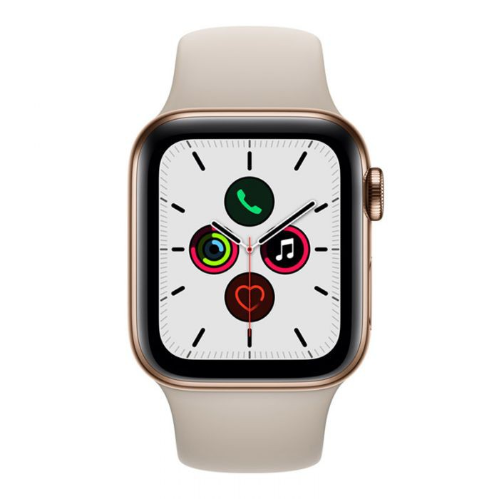 APPLE WATCH SERIES 5 GPS + CELLULAR 40MM GOLD STAINLESS STEEL CASE WITH STONE SPORT BAND
