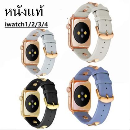 2021 แฟชั่น apple watch strap สายนาฬิกาหนัง iwatch series SE 6 5 4 3 2 1 สาย applewatch 38 40 42 44mm