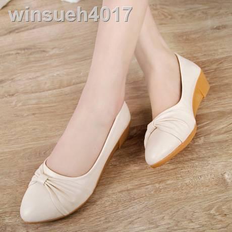 รองเท้าวิ่งผู้หญิง☸รองเท้าคัชชูผู้หญิงส้น5⭐️มาใหม่ No.F041 **** มี 2 สี รองเท้าคัดชูรองเท้าคัทชูหนังหญิงส้นสูงส้นเท้าดำ
