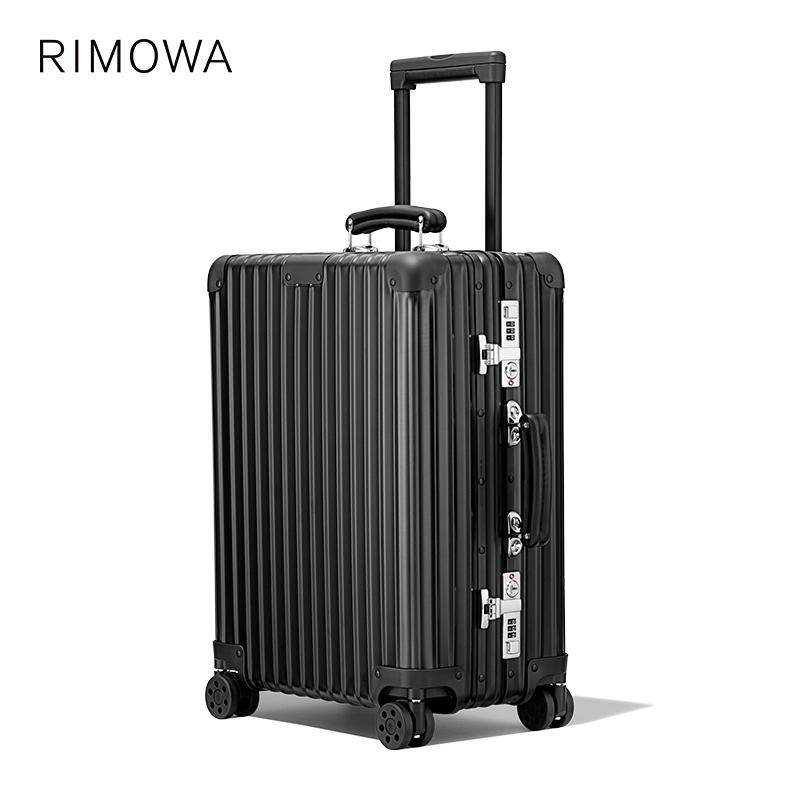 ✩↹ใหม่rimowa/Ri merwa classic21นิ้วคลาสสิกโลหะรถเข็นกระเป๋าเดินทางกระเป๋าเดินทางขึ้นเครื่อง