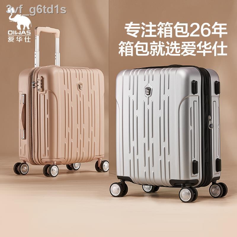 ▼۩❀aihuashi รถเข็นน้ำหนักเบา กระเป๋าเดินทางขนาด 20 นิ้ว กระเป๋าเดินทางขนาดเล็กสำหรับผู้หญิง กระเป๋าเดินทางทนทาน 24 ใบ กร