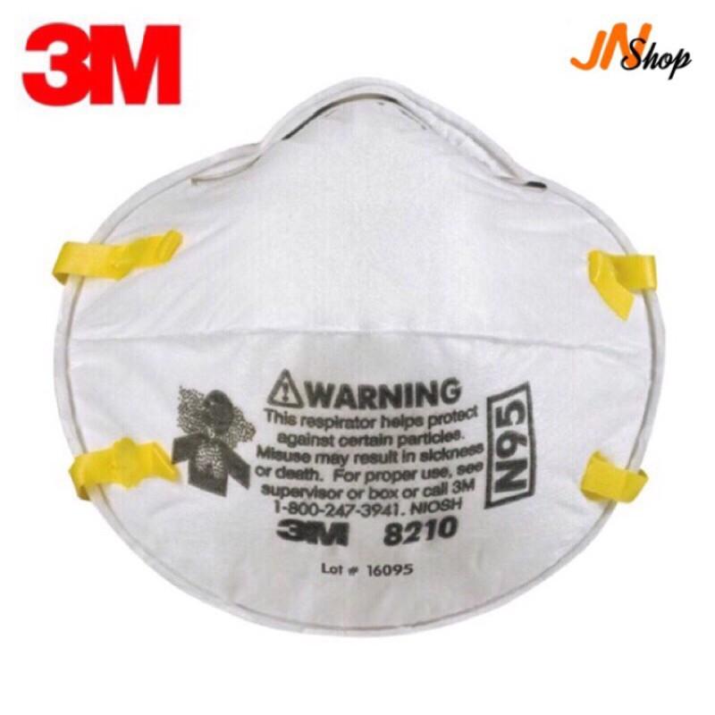 hot✈[พร้อมส่ง]3M 8210 N95 หน้ากากป้องกันฝุ่นละออง PM 2.5(ไม่มีกล่อง)