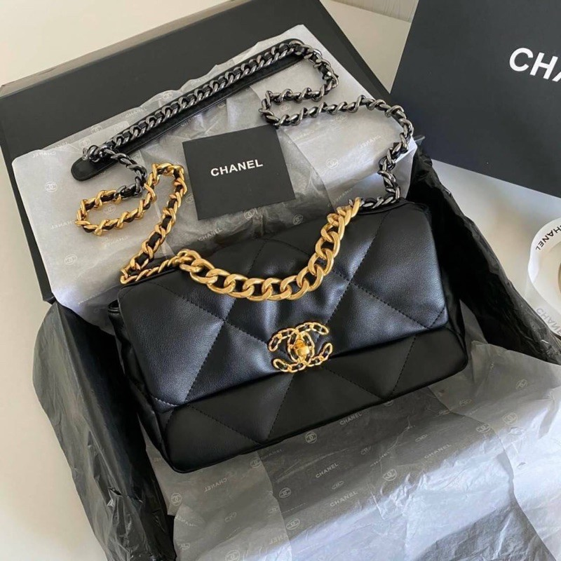 NEW CHANEL 19 FLAP BAG 26 CM SMALL