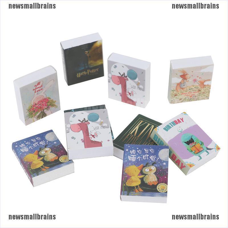 Newsmallbrains 3Pcs 1/12 Dollhouse Miniature Fairy Tale Books Doll House Accessories Decor NSB