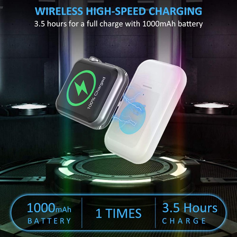 Portable Magnetic Wireless Travel Outdoor, 1000MAh Charger for Apple Watch Series 5/4/3/2/1/Nike+ hPdQ