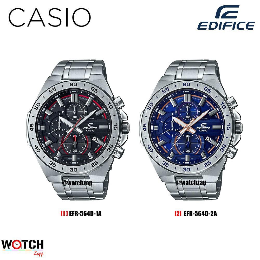 บูติก✻┋♦Casio Edifice Chronograph นาฬิกาข้อมือผู้ชาย สายสแตนเลส รุ่น EFR-564D EFR-564BL EFR-564BL-1A EFR-564D-1A EFR-564