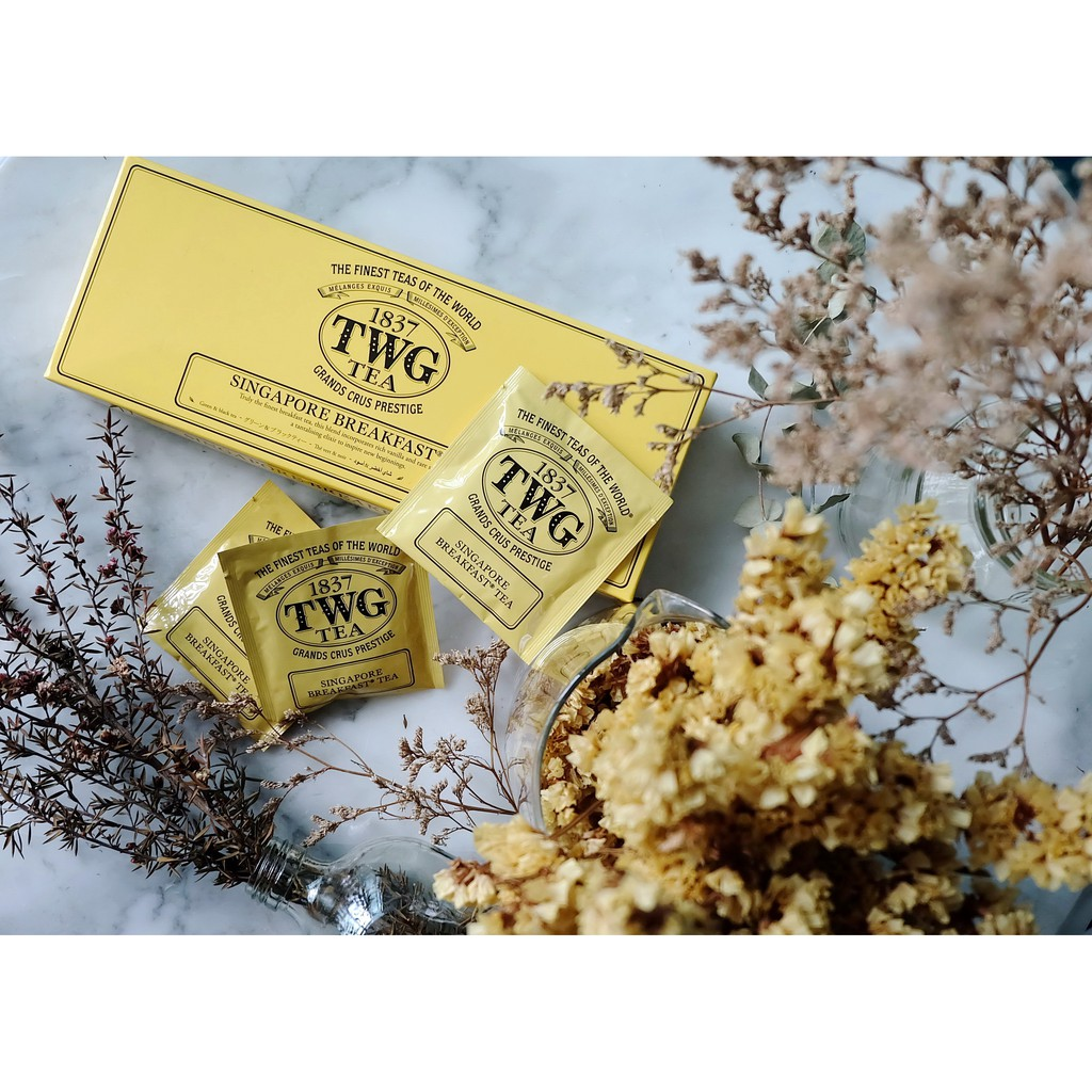 ชา TWG Singapore Breakfast Tea Cotton Teabags (2.5 กรัม)