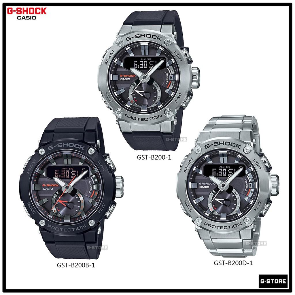 นาฬิกาข้อมือผู้ชาย G-SHOCK G-STEELรุ่น GST-B200 / GST-B200B / GST-B200D ของแท้ รับประกัน 1 ปี