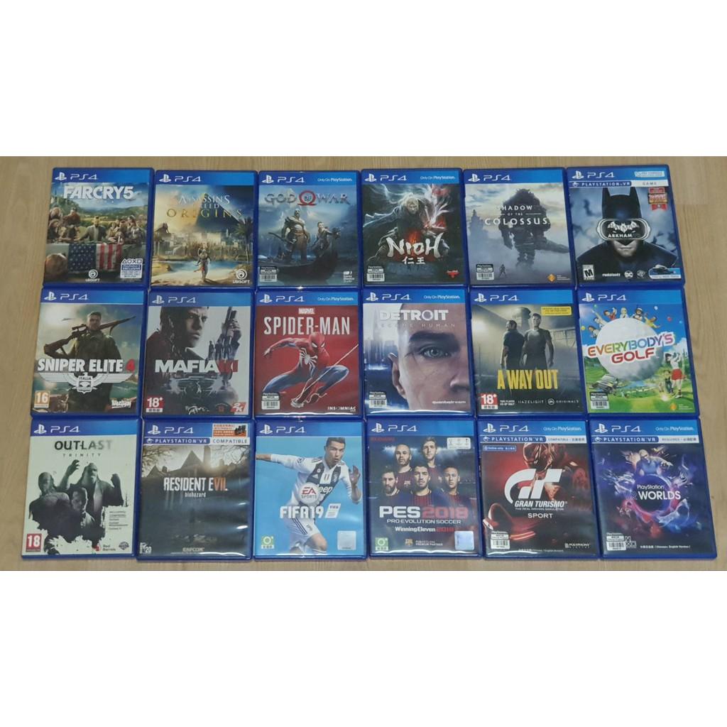 แผ่นเกมส์ PS4 มือสองสภาพดี ราคาถูกสุดๆ