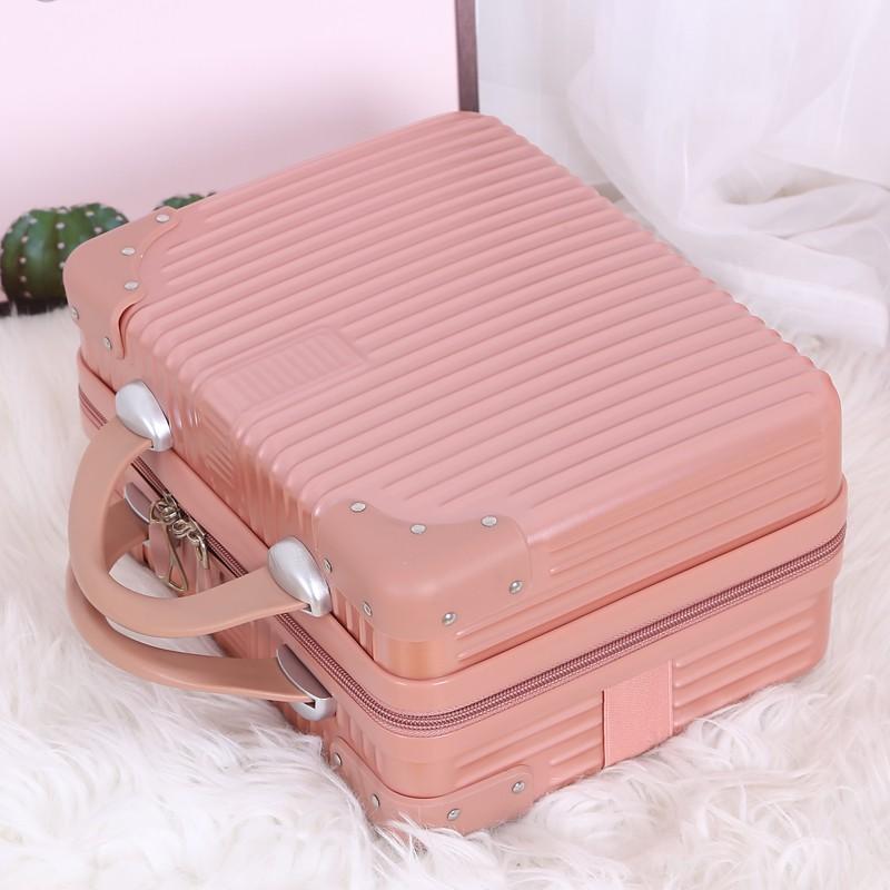 กระเป๋าเดินทางกระเป๋าเดินทางใบเล็กหญิงน่ารักเครื่องสำอางค์ 14 นิ้วเล็กและเบากระเป๋าเดินทาง 16 นิ้วกระเป๋าเก็บมินิ