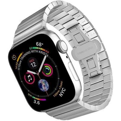 ↙ヵApple iWatch สายนาฬิกาแบบโซ่สแตนเลส applewatch se/ 6/5/4/รุ่น3/2 Series 38/42 MM4อุปกรณ์เสริมสายนาฬิกา0/44ลูกปัดสามและ
