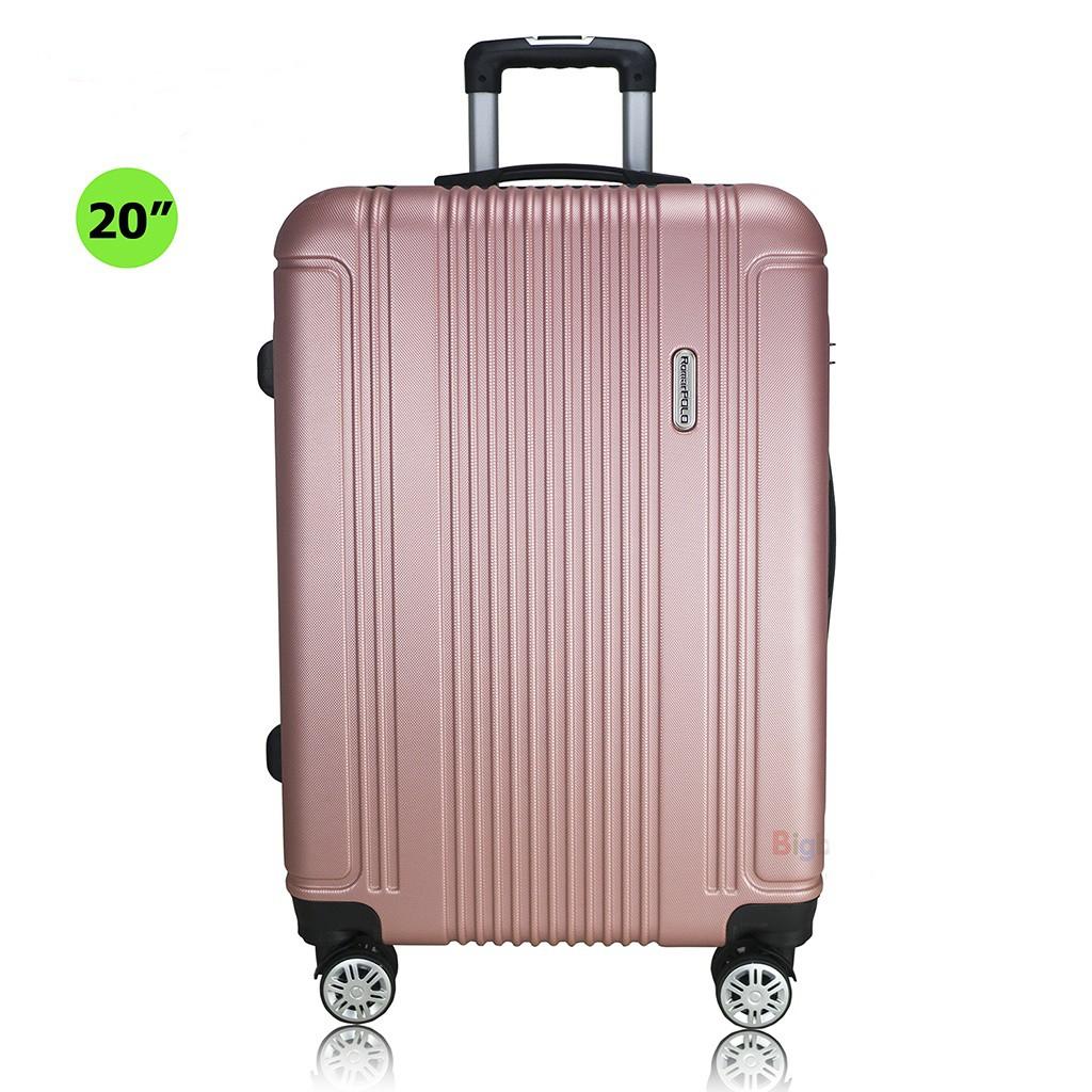 กระเป๋าเดินทางล้อลาก Romar Polo 20 นิ้ว ระบบรหัสล๊อค TSA 4 ล้อหมุนรอบ 360° วัสดุ ABS รุ่น RI1520