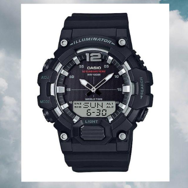 นาฬิกาข้อมือ Casio ดิจิตอล 2 ระบบ HDC-700-1AVDF สายยางกันน้ำ