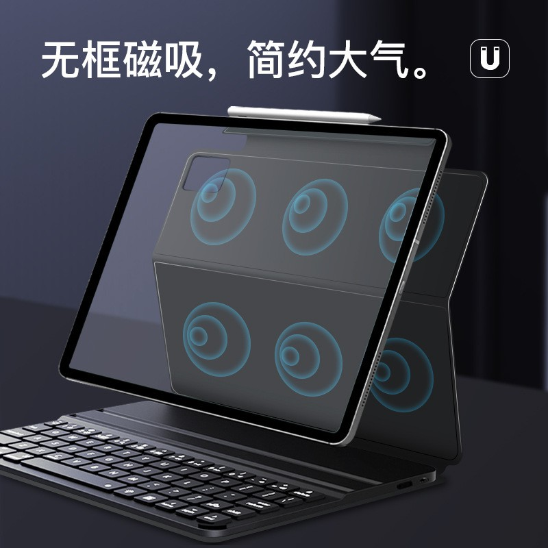 Keyboard for New iPad Pro 11 12.9 2020 2nd Generation,Bluetooth  Magnet Keyboard Leather Case Cover Support Apple Pencil