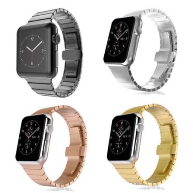 สาย applewatch แท้ สาย applewatch 4สี พร้อมส่ง!! สายนาฬิกาสแตนเลส  (พร้อมที่ปรับสาย)