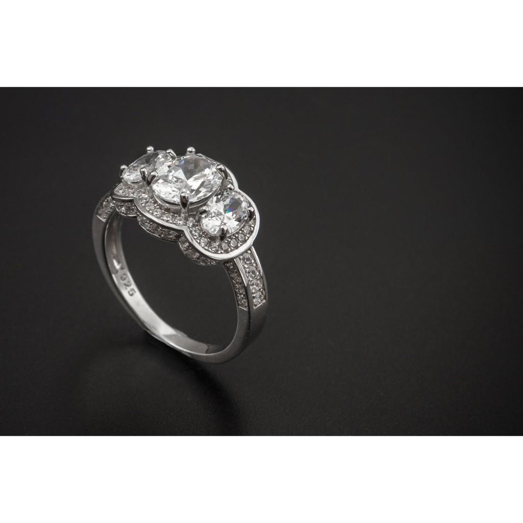 แหวนทองคำขาว เพชรWhite CZ แท้ #แหวนเพชรCZ #แหวนแฟชั่นราคาถูก