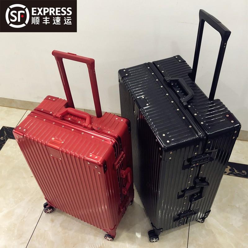 กระเป๋าเดินทางล้อลาก20นิ้ว INS สุทธิสีแดงใหม่ผู้ชายและผู้หญิงที่แข็งแกร่งและทนทานรหัสผ่าน24 Pi Xiang Zi11