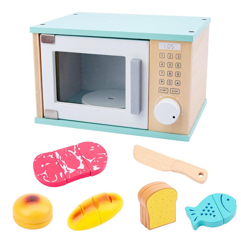 ชุดของเล่นเด็กเล่นบ้าน3-4-6สาวปีจำลองห้องครัวทำอาหารมินิเครื่องชงกาแฟไม้ของขวัญวันเกิดสั่นสุทธิสีแดงวรรคเดียวกัน