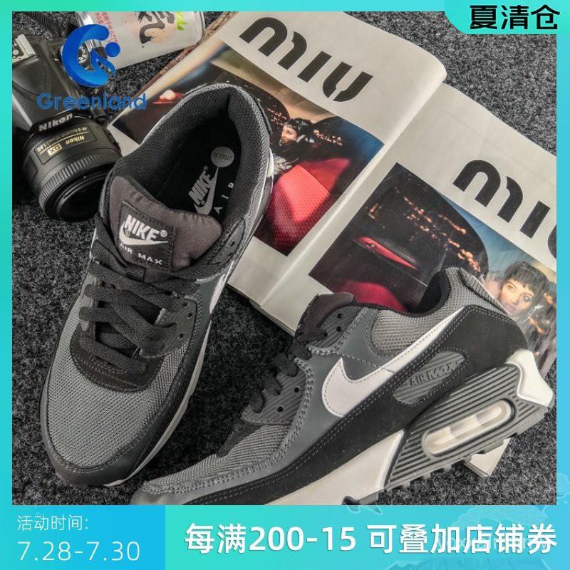 Nike Air Max 90 ผู้ชายคลาสสิกของแนวโน้มของเบาะลมกีฬารองเท้าวิ่งสบายๆ CN8490-002