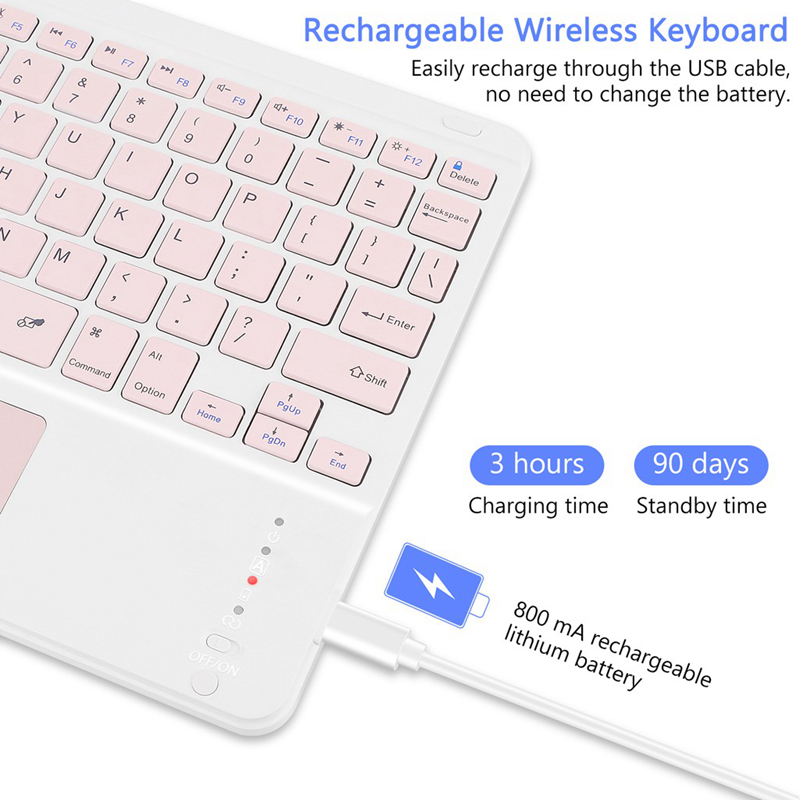 For Apple IPad Smart Touchpad Keyboard Case Built-in Pencil Slot For Air 2/3/4 10.2 IPad 7th 8th Generation 9.7 IPad 5th