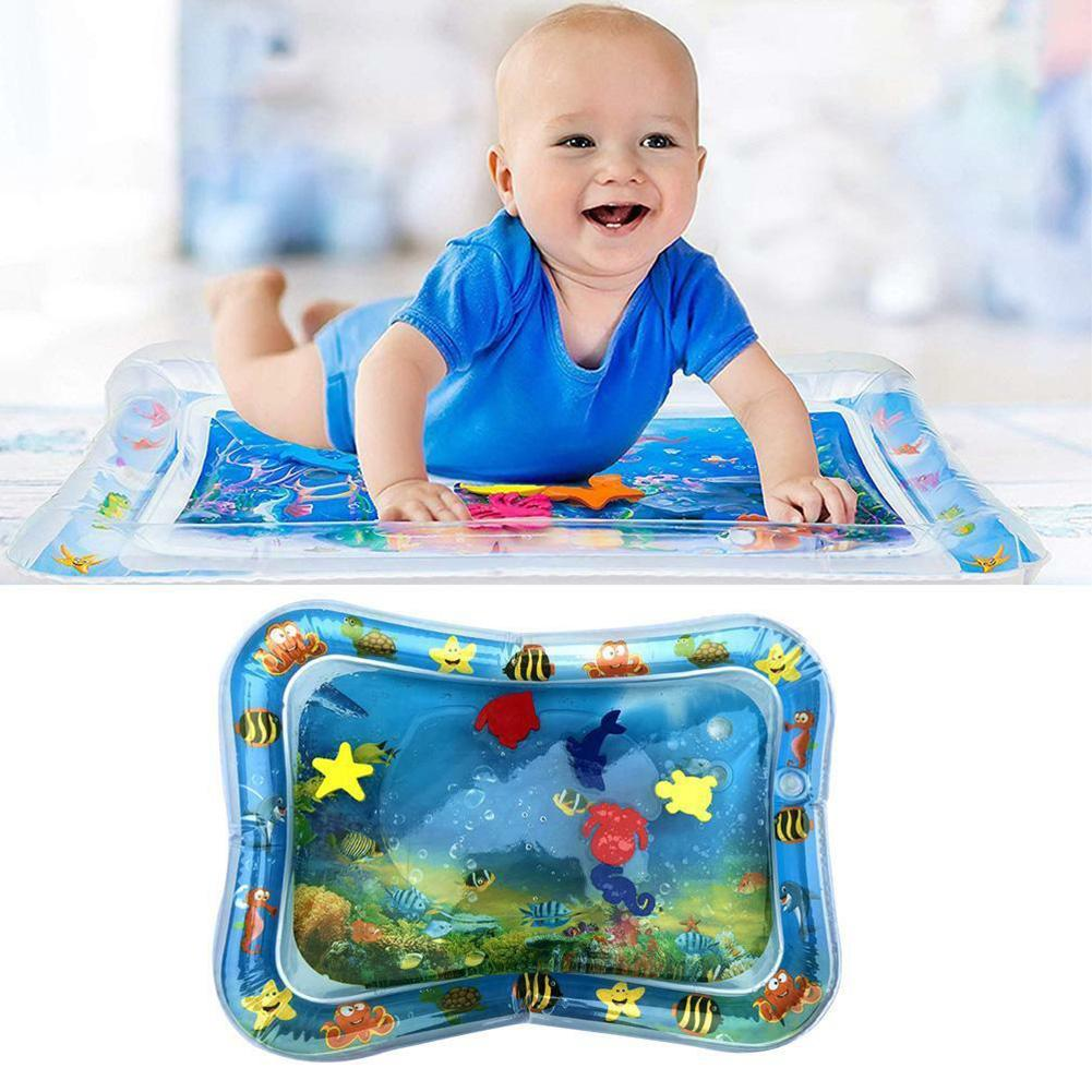 Dual Use Baby Early Education Motor Skills Sensory Stimulation Non Toxic Toys Inflatable Patted PVC Water Cu
