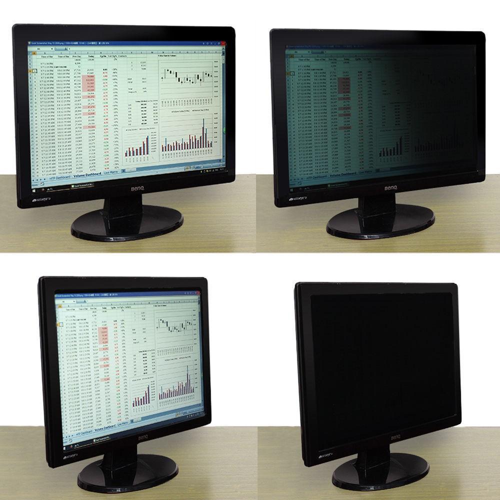 "Privacy Screen Filter Protector Film 19/"" For Widescreen Desktop Computer Monitor"