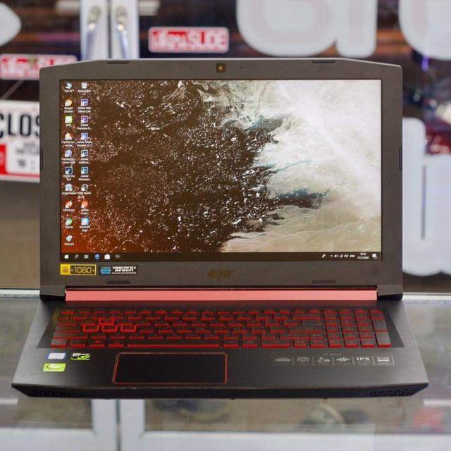 โน๊ตบุ๊คมือสอง Acer Nitro 5 i5-8300H แรงกว่า I7-7700HQ GTX1050 SSD สวยๆ ประกัน 1 ปีเต็ม