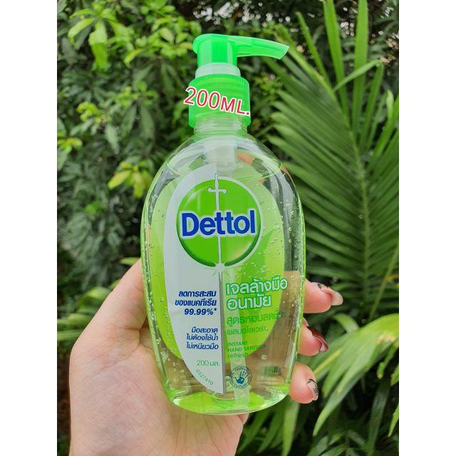พร้อมส่ง เดทตอล dettol เจลล้างมือแบบไม่ใช้น้ำ ขนาด 50มล และ 200 มล กลิ่นหอมสดชื่นผสมอโรเวล่า