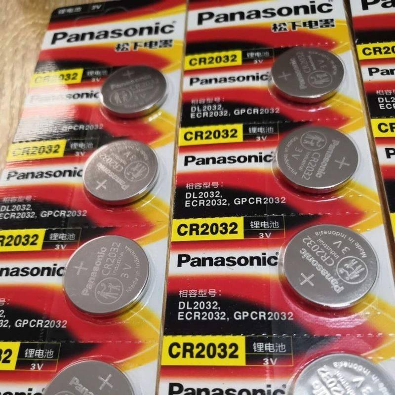 ถ่านCR20323V ถ่านกระดุมพานาโซนิค CR2032CR2025CR2016 กุญแจรีโมทรถแบตเตอรี่แบตเตอรี่ลิเธียม 3V อุปกรณ์อิเล็กทรอนิกส์