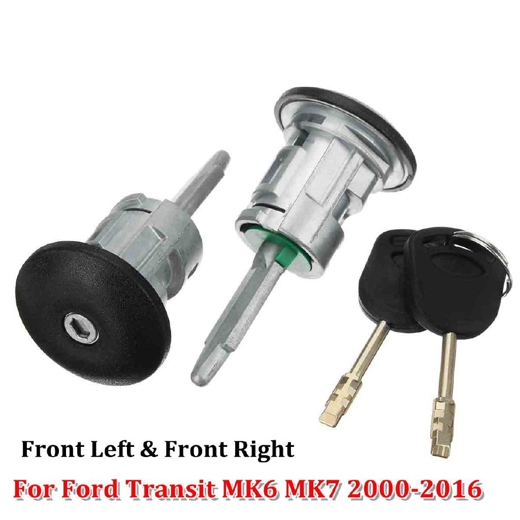 Front Right Driver Side Door Lock Barrel with 2 keys For Ford Transit MK6 BI