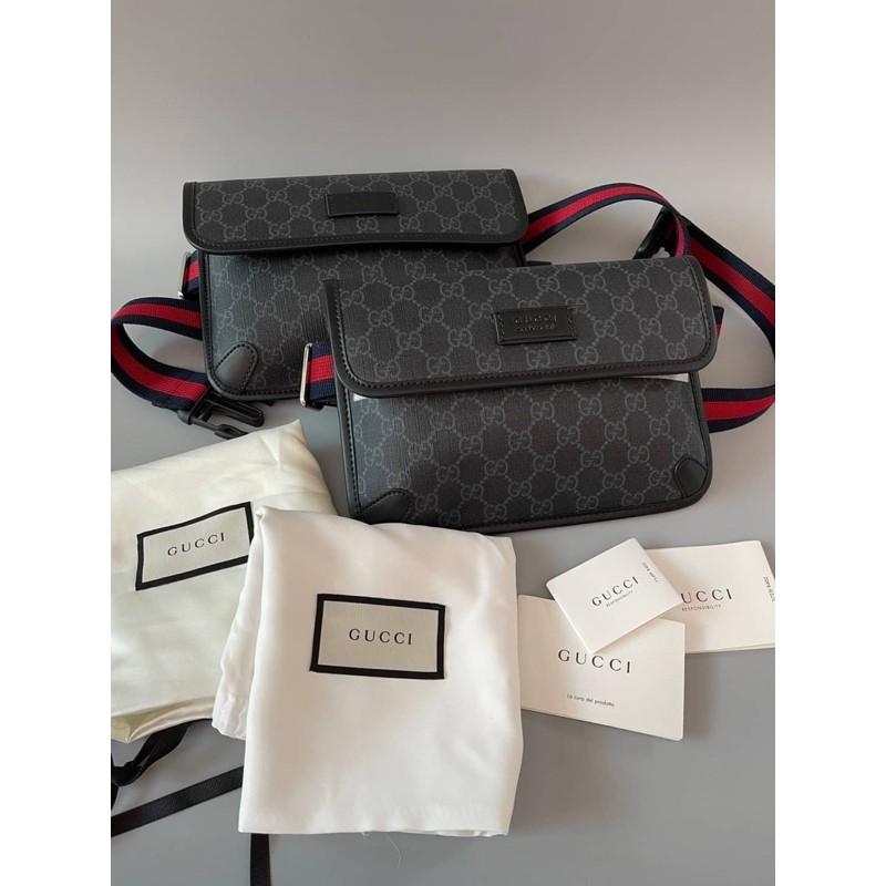 (ผ่อน0%)📌แท้💯 Gucci GG Supreme Belt Bag(ไม่แท้คืนเงิน)