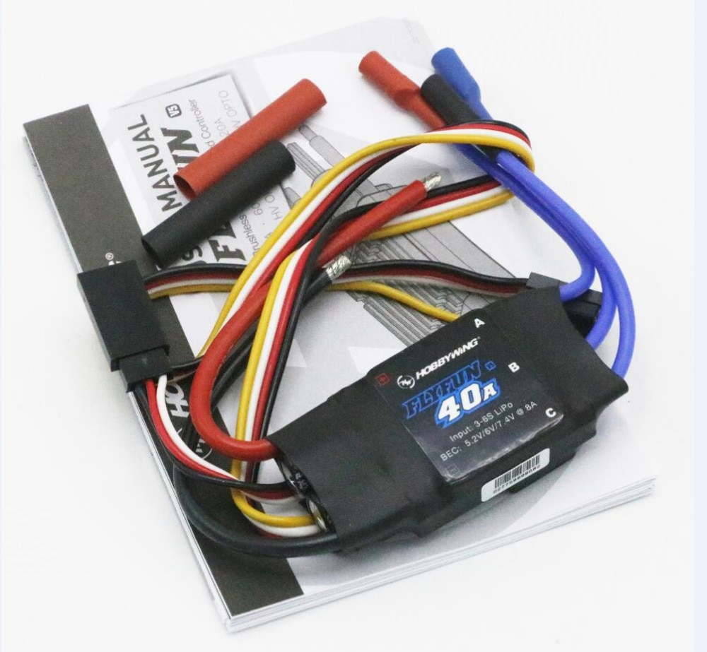 Hobbywing FlyFun V5 30A 40A 60A 80A 100A Brushless Speed Controller ESC w/2-6S Lipo SBEC for helicopter and RC Multicopter