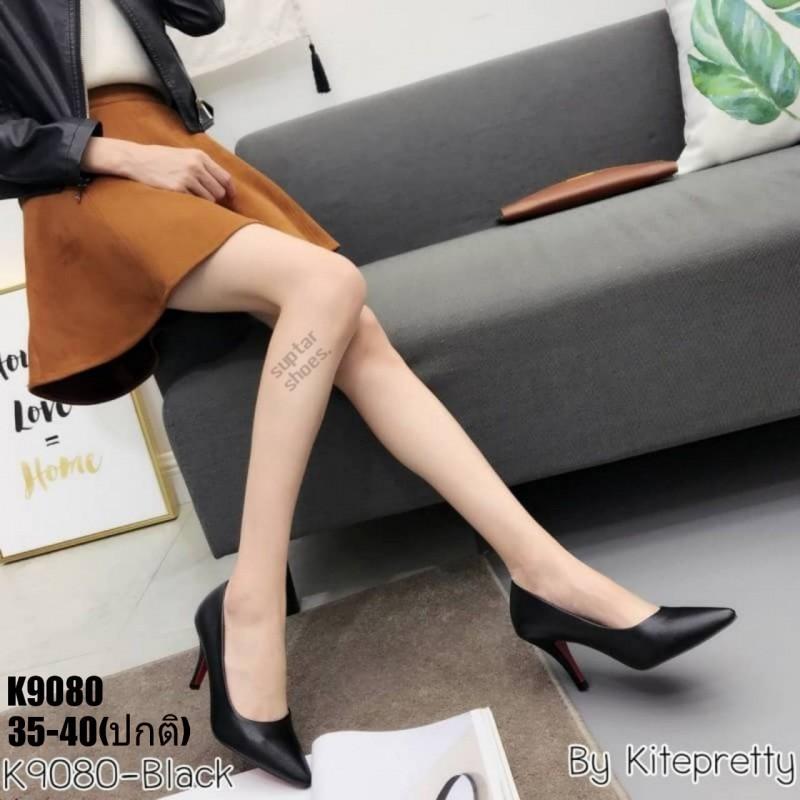รองเท้าคัชชู หนังพรีเมี่ยม นิ่ม สวย สีดำ