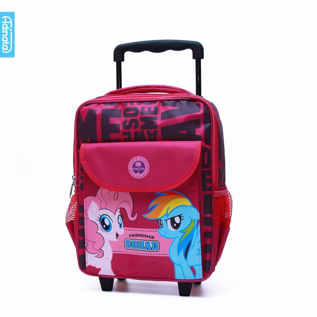 กระเป๋าเดินทางล้อลากลาย My Little Pony Squad ขนาด 14 นิ้วสําหรับเด็ก
