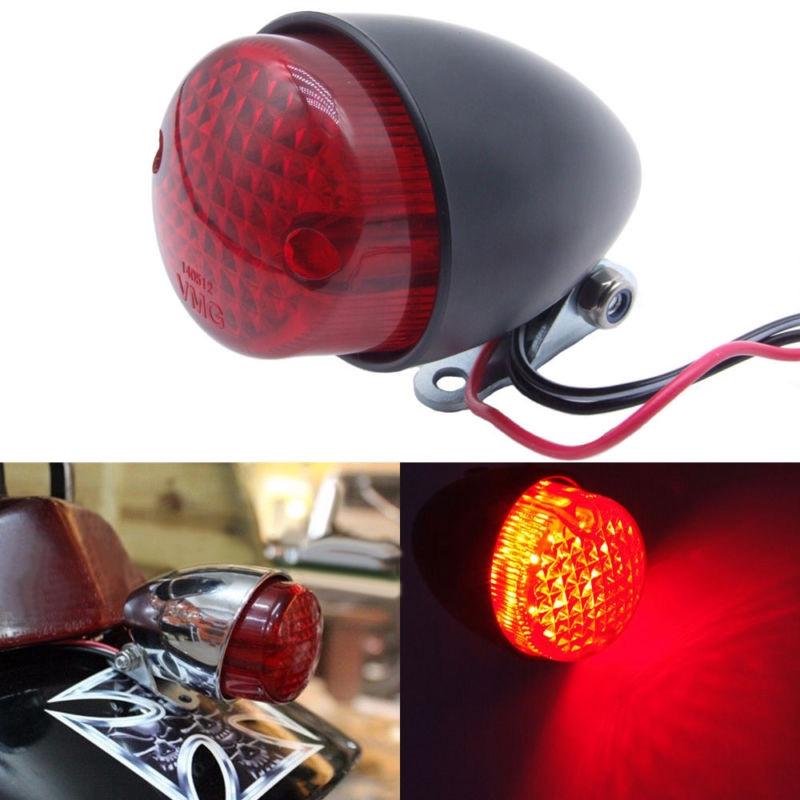 Motorcycle Brake Stop Running  LED Tail Light Cafe Racer Bobber Cruiser Chopper