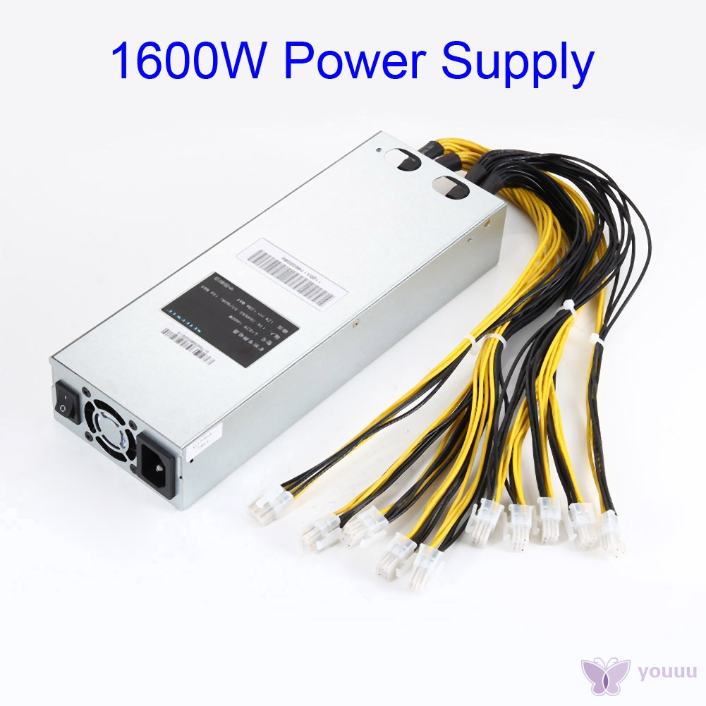 〖YOU❤〗 1600W APW3 Mining Power Supply Fits For Antminer Miner S9 S7 L3+ D3
