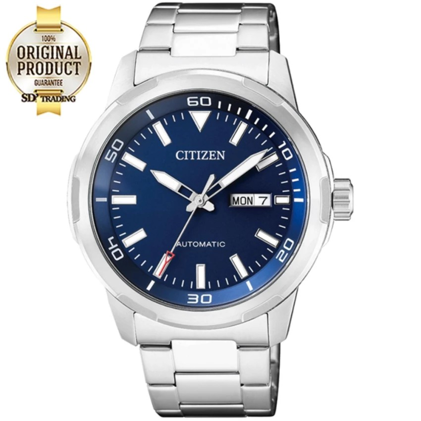 CITIZEN Men's Automatic Stainless Steel Watch รุ่น NH8370-86L - เรือนเหล็ก/น้ำเงิน