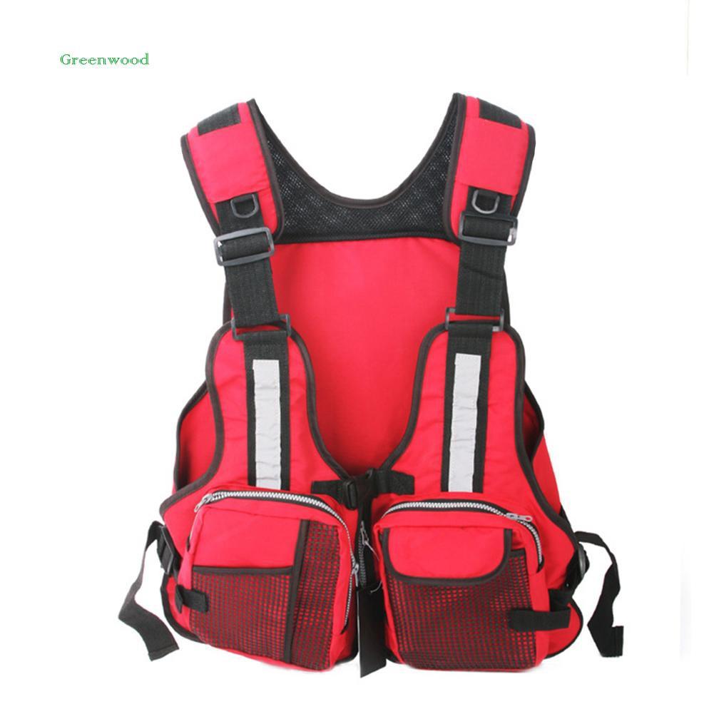 Fishing Life Jacket Fishing Clothes with Buoyancy for Swimming Sailing Boating Safety Life Jacket Adjustable Size for Unisex Black
