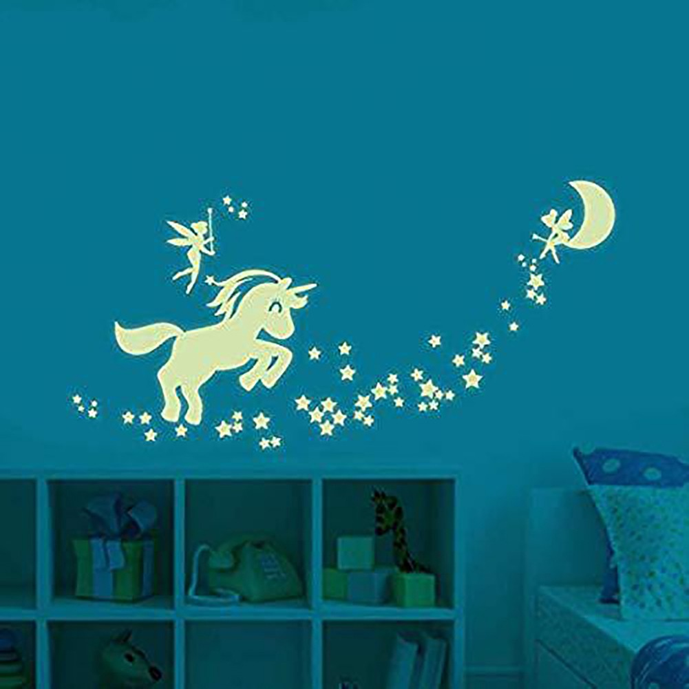 Noctilucent Planets Star Glow in the Dark Wall Sticker Waterproof Ceiling Fun