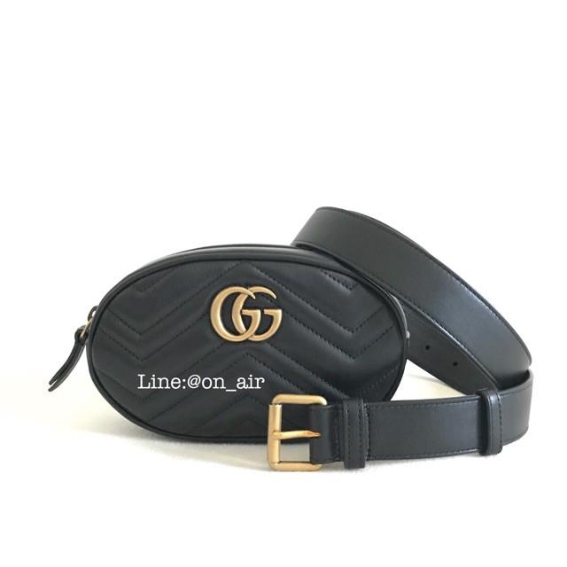 gucci marmont belt bag สีดำขายดี ต้นฉบับ 100%