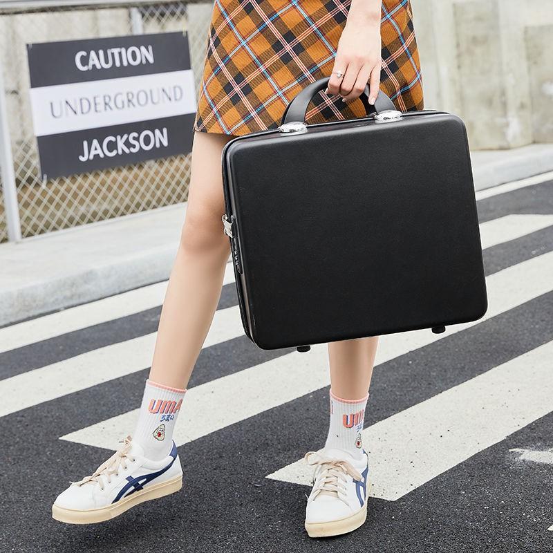✤มูลค่าสูง 16 นิ้วความจุขนาดใหญ่ กระเป๋าเครื่องสำอางน่ารักกระเป๋าเดินทางใบเล็กกระเป๋าเดินทางหญิงมินิแบบพกพาและเบา