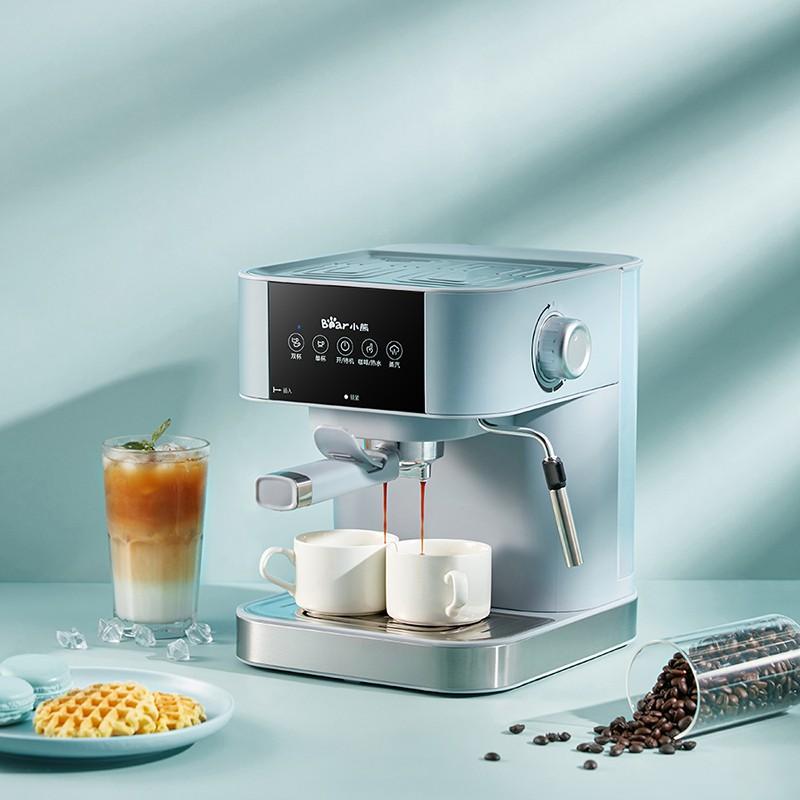 เครื่องชงกาแฟ เครื่องทำกาแฟกึ่งอัตโนมัติ เครื่องทำกาแฟสด Coffee maker เครื่องชงกาแฟเอสเพรสโซ่ ความจุ 1.5ลิตร ปั๊ม15 บาร์